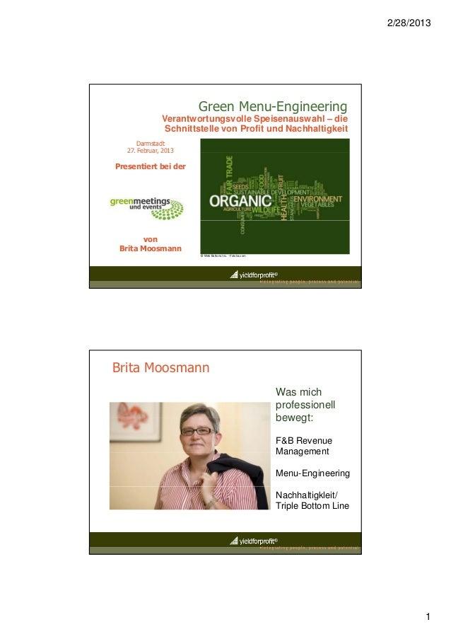 2/28/2013                      Green Menu-Engineering              Verantwortungsvolle Speisenauswahl – die               ...