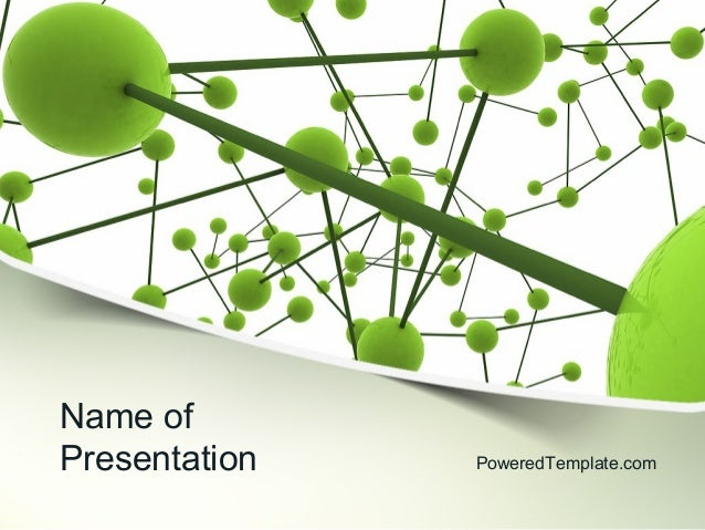 green network powerpoint template by poweredtemplatecom