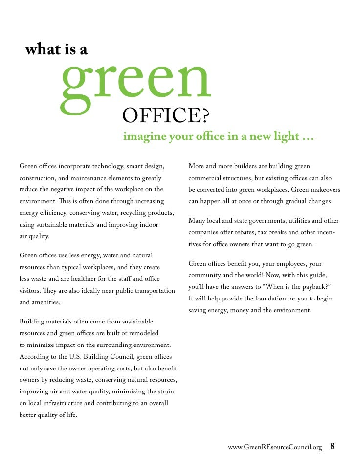 Green Office Guide Pdf