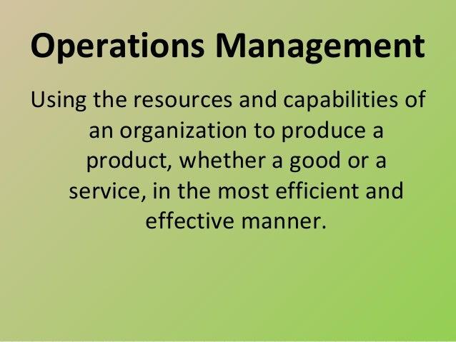 Green operations management Slide 2