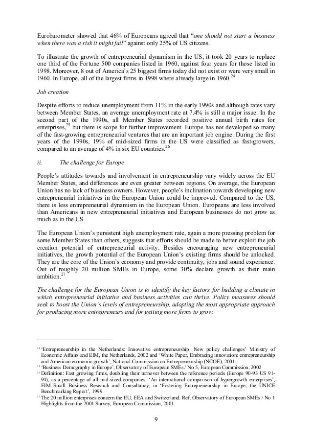 international entrepreneurship in europe essay 16th iecer entrepreneurship conference 26-28 research-in-progress papers research-in issue granted by the international journal of entrepreneurship.