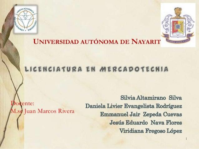 UNIVERSIDAD AUTÓNOMA DE NAYARIT                                       Silvia Altamirano SilvaDocente:                  Dan...