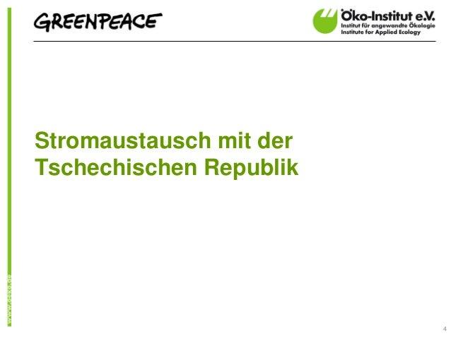 Stromaustausch mit derTschechischen Republik                         4