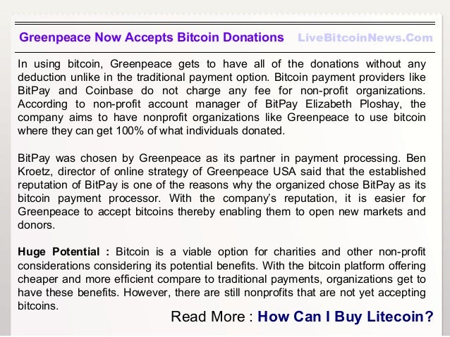 Greenpeace now accepts bitcoin donations 3 greenpeace now accepts bitcoin donations livebitcoinnews ccuart Gallery