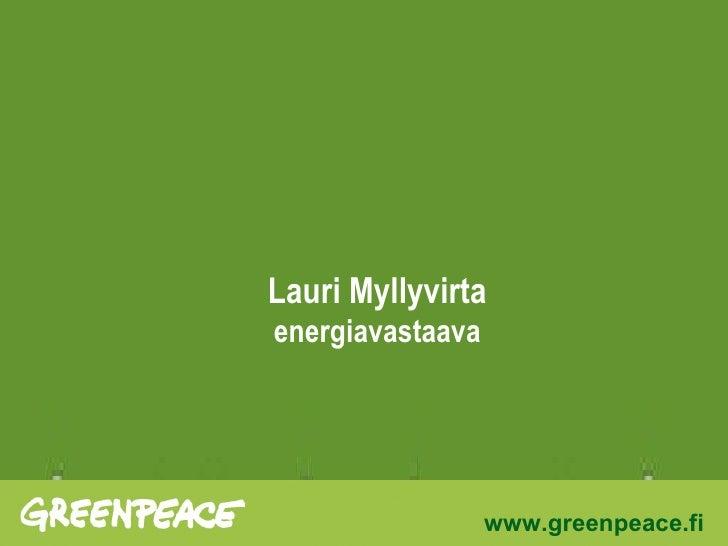 Lauri Myllyvirta energiavastaava