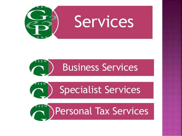 Services Business Services Specialist Services Personal Tax Services