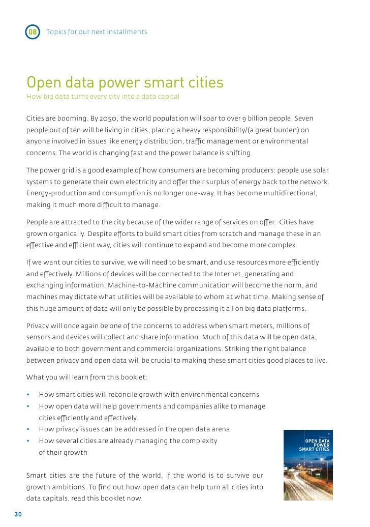 08     Topics for our next installments     Open data power smart cities     How big data turns every city into a data cap...