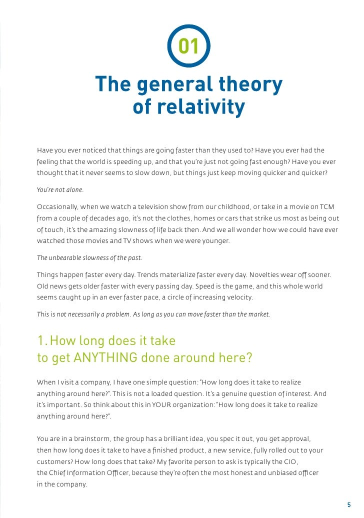 01                    The general theory                       of relativityHave you ever noticed that things are going fa...