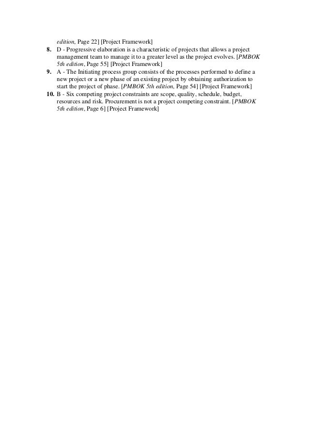 Green pmp exam prep questions answers explanations 2013