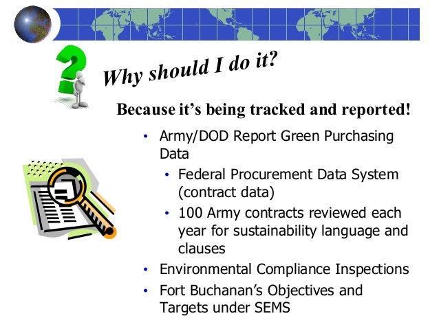 Federal Procurement Data System : Green procurement awareness training
