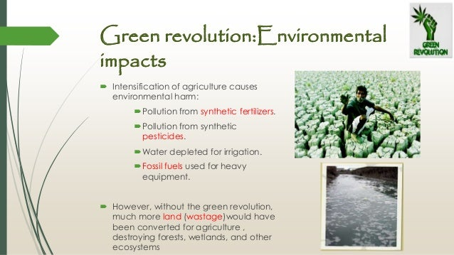 A report on the advantages of green revolution