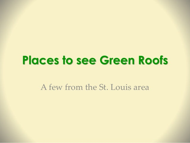 Intro To Green Roofs For Educators