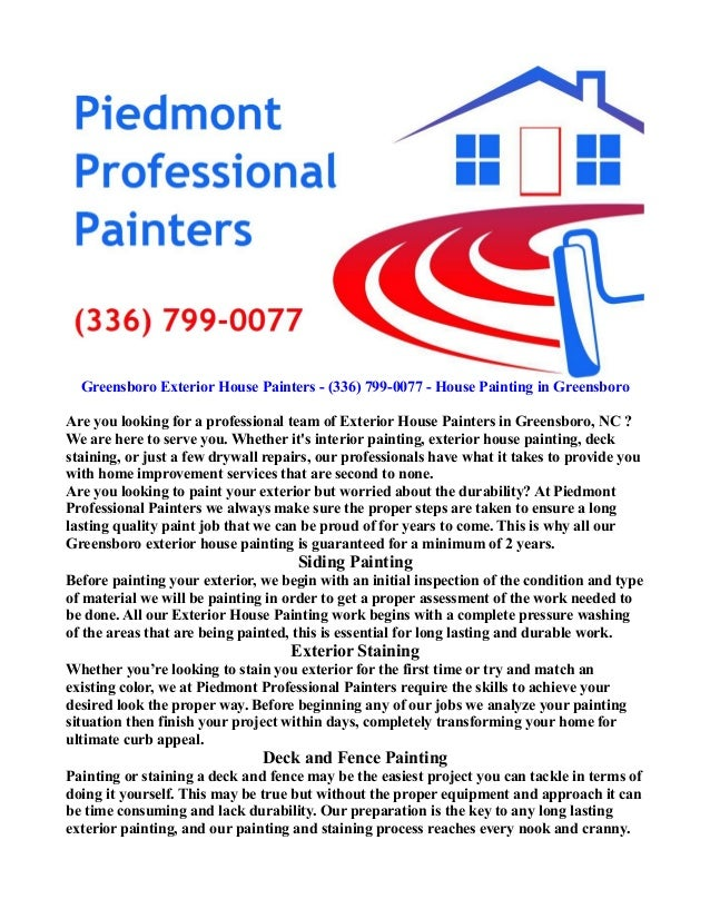 Greensboro exterior house painting 336 799 0077 for Exterior painting greensboro nc