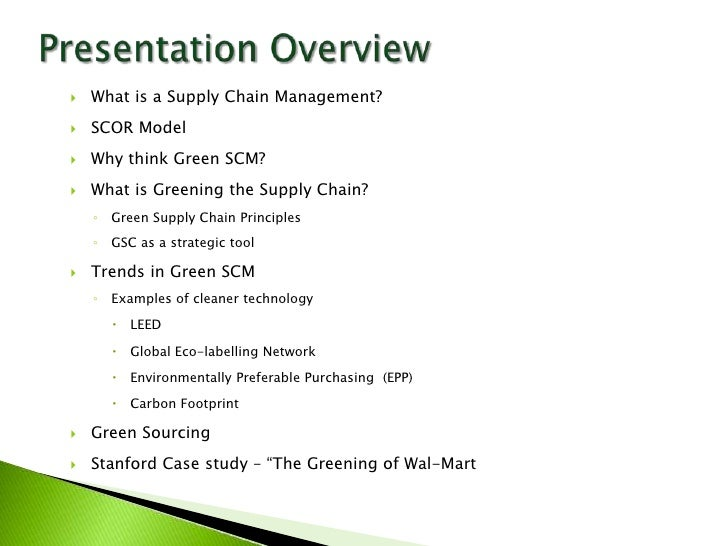 wal mart efforts to green supply chain