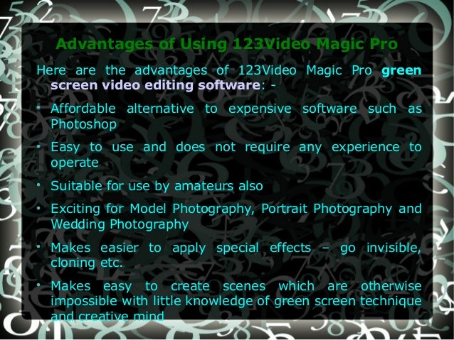 Green screen video editing software