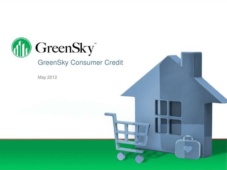 GreenSky Consumer CreditMay 2012