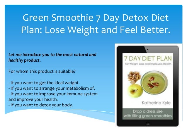 7 Day Diet Plans With Smoothie Review