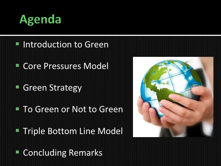 Green Strategy   Presentation Slide 3