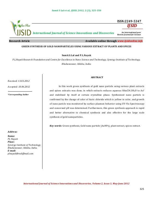 Sumit S Lal et al., IJSID, 2012, 2 (3), 325-350                                                                           ...