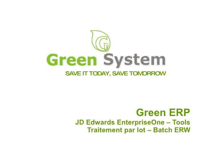 Green System University - Development JDEdwards (French Version) - Tome2
