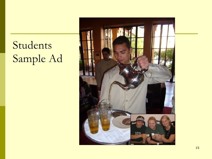 Students Sample Ad