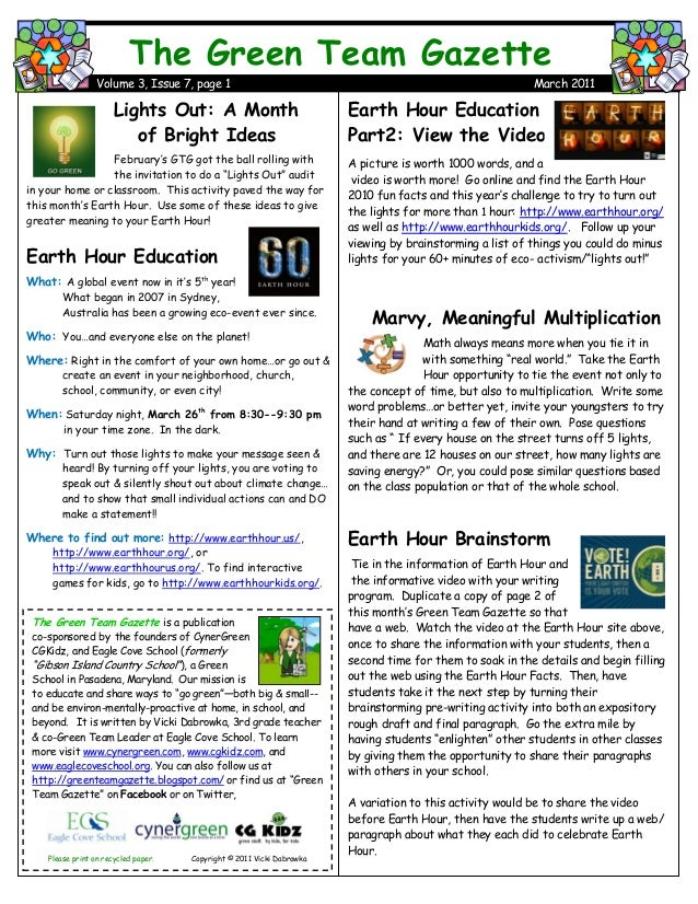 Earth Hour Education Part2: View the Video A picture is worth 1000 words, and a video is worth more! Go online and find th...