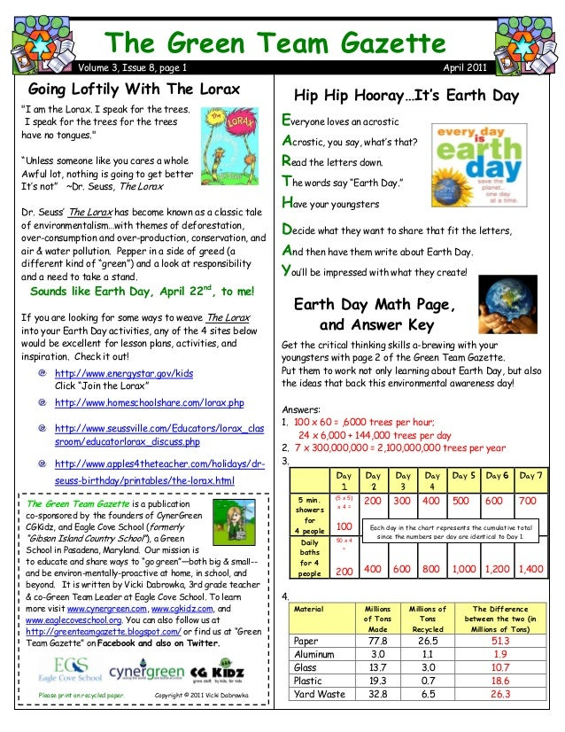 Hip Hip Hooray…It's Earth Day Everyone loves an acrostic Acrostic, you say, what's that? Read the letters down. The words ...
