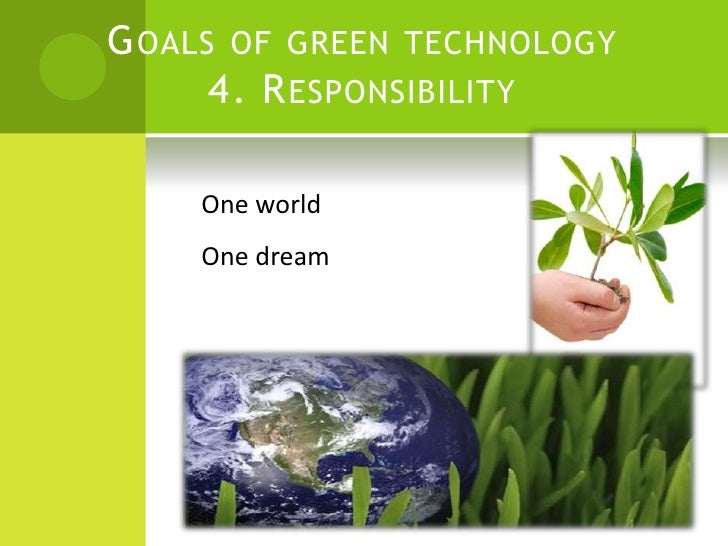 Green technology essay
