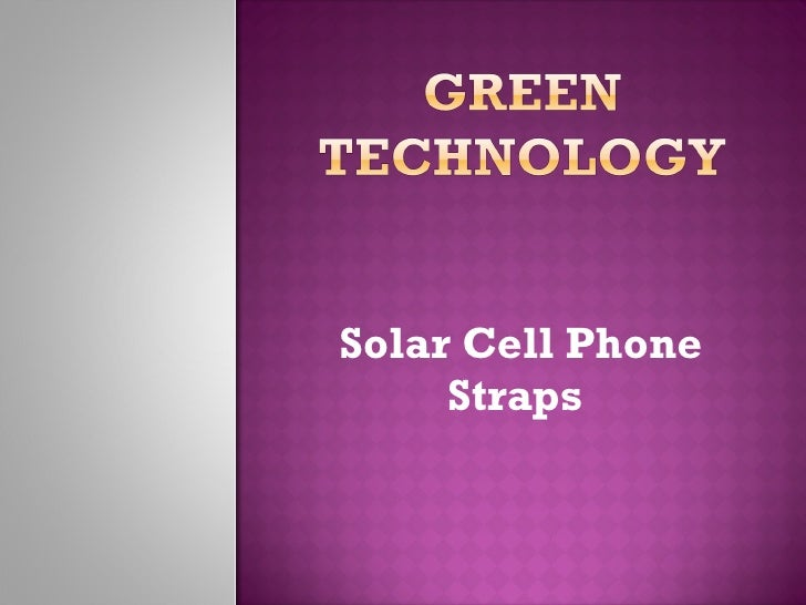 Solar Cell Phone Straps