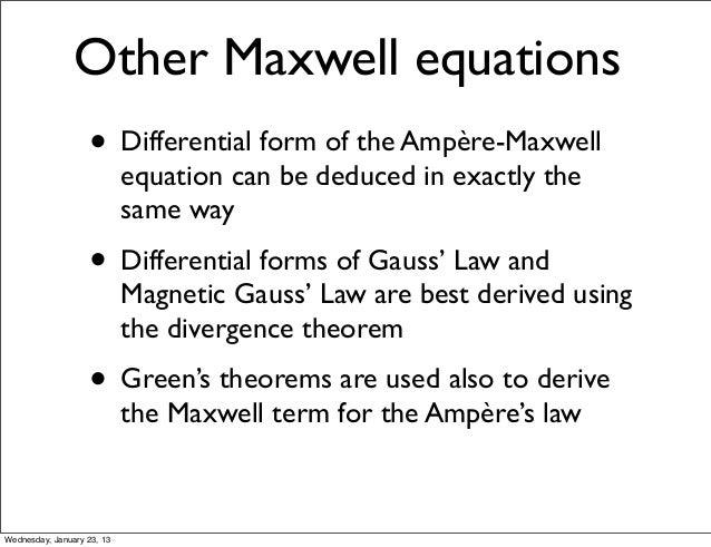 green u0026 39 s theorem in classical mechanics and electrodynamics