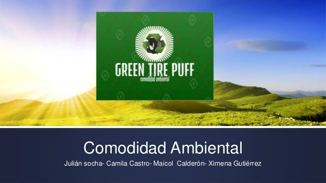 Comodidad Ambiental Julián socha- Camila Castro- Maicol Calderón- Ximena Gutiérrez