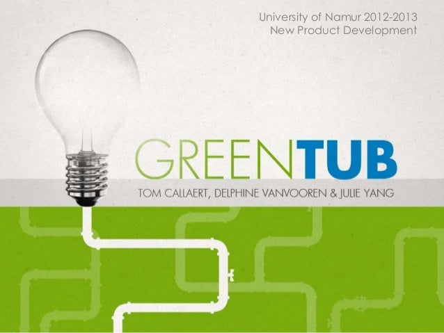 University of Namur 2012-2013New Product Development
