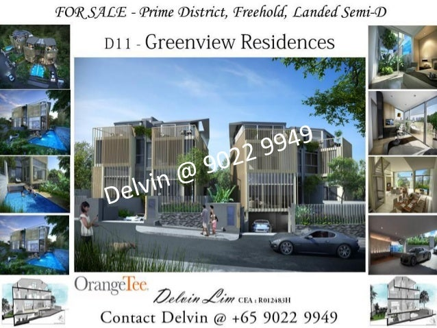 Development Name: GreenviewResidences  Property Type: Semi-Detached  Tenure: Freehold  TOP: Sept 2016  # of Floors: Baseme...