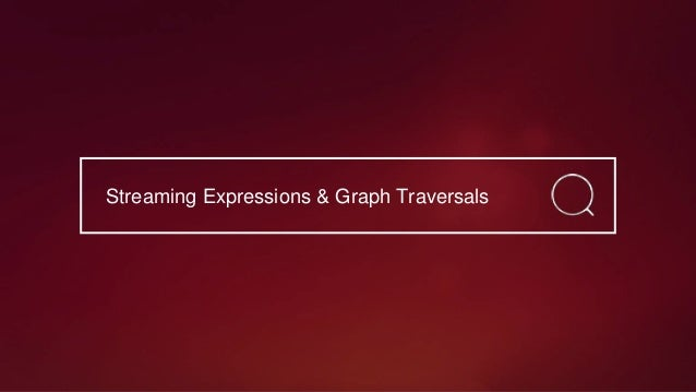Graph Query Parser • Query-time, cyclic aware graph traversal is able to rank documents based on relationships • Provides ...