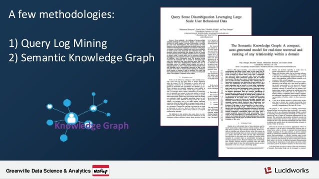 Greenville Data Science & Analytics Audience Questions #2: Can you tell me more about the semantic knowledge graph? See: h...