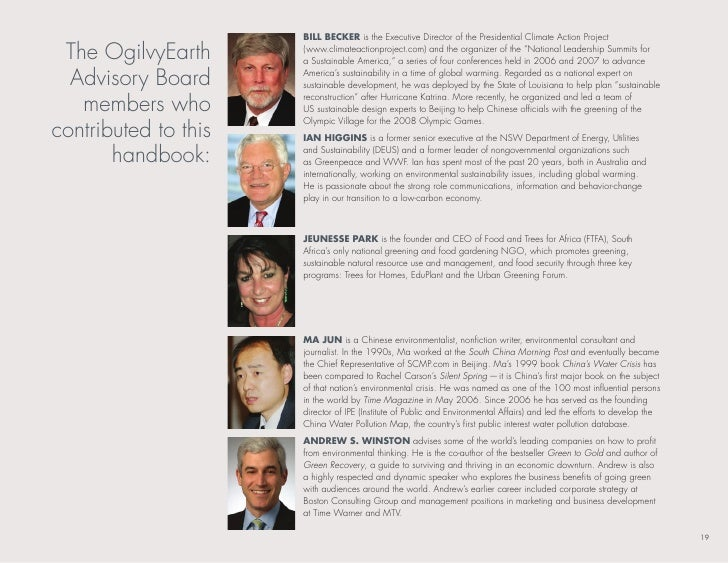 bill becker is the executive director of the Presidential Climate Action Project   the ogilvyearth      (www.climateaction...