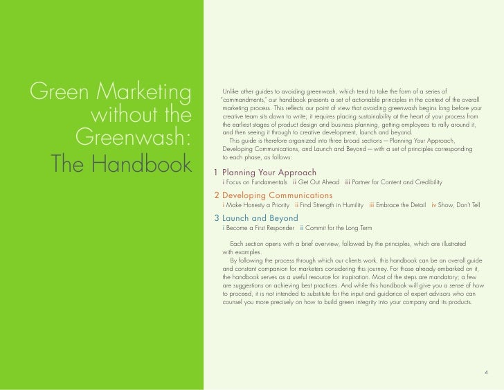 Green Marketing      unlike other guides to avoiding greenwash, which tend to take the form of a series of                ...