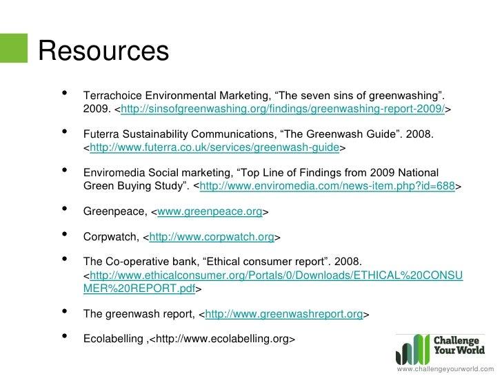 seven sins of greenwashing pdf