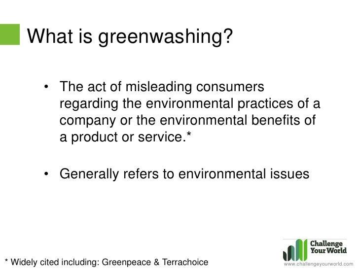 Greenwashing misleading claims of environmental benefits essay