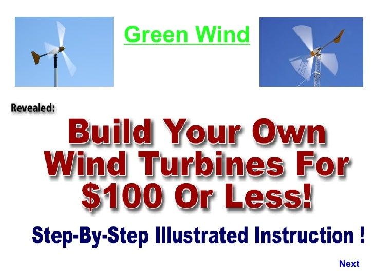 Wind Generater Wind turbine Green Wind Next
