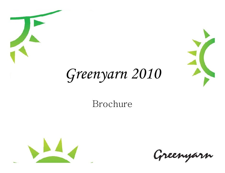 Greenyarn 2010     Brochure