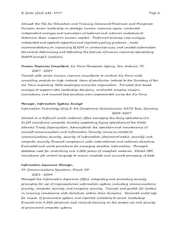 human resources consultant resume