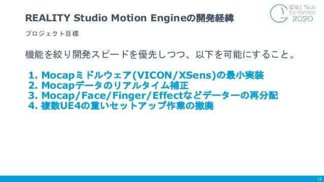 機能を絞り開発スピードを優先しつつ、以下を可能にすること。 1. Mocapミドルウェア(VICON/XSens)の最小実装 2. Mocapデータのリアルタイム補正 3. Mocap/Face/Finger/Effectなどデーターの再分配 ...