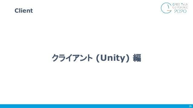 Client 29 クライアント (Unity) 編