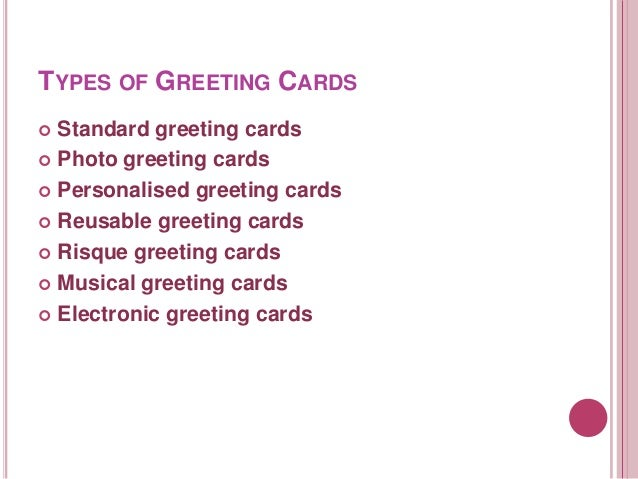 Greeting cards english types of greeting cards m4hsunfo