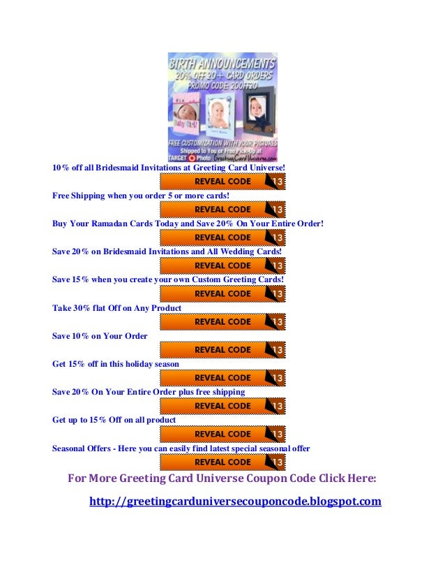 Greeting card universe coupon code 4 10 off all bridesmaid invitations at greeting card m4hsunfo