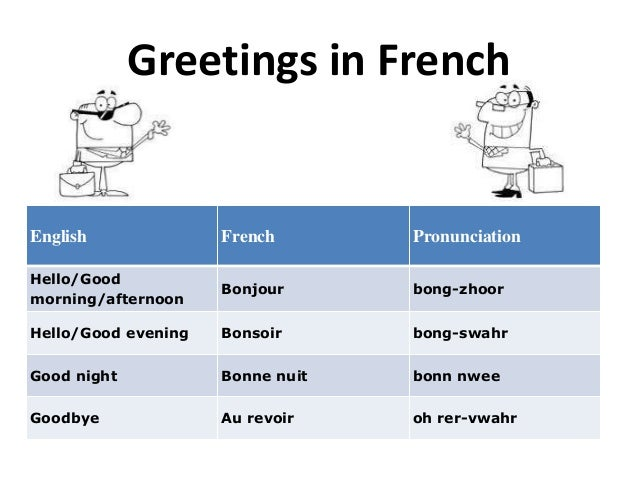 Good Morning French Greetings : Greetings