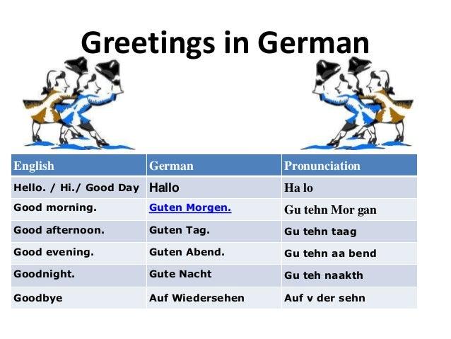 Greetings greetings in germanenglish german pronunciationhello m4hsunfo