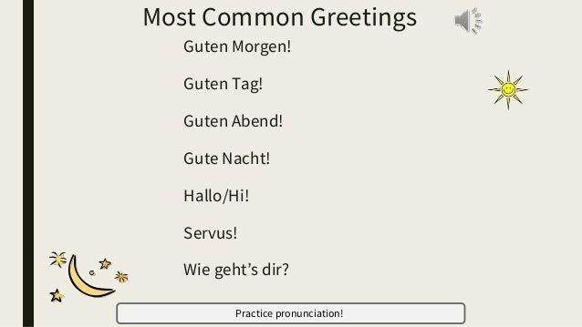 Greetings And Farewells German 1