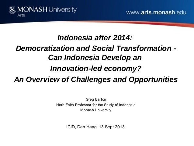 Indonesia after 2014: Democratization and Social Transformation - Can Indonesia Develop an Innovation-led economy? An Over...